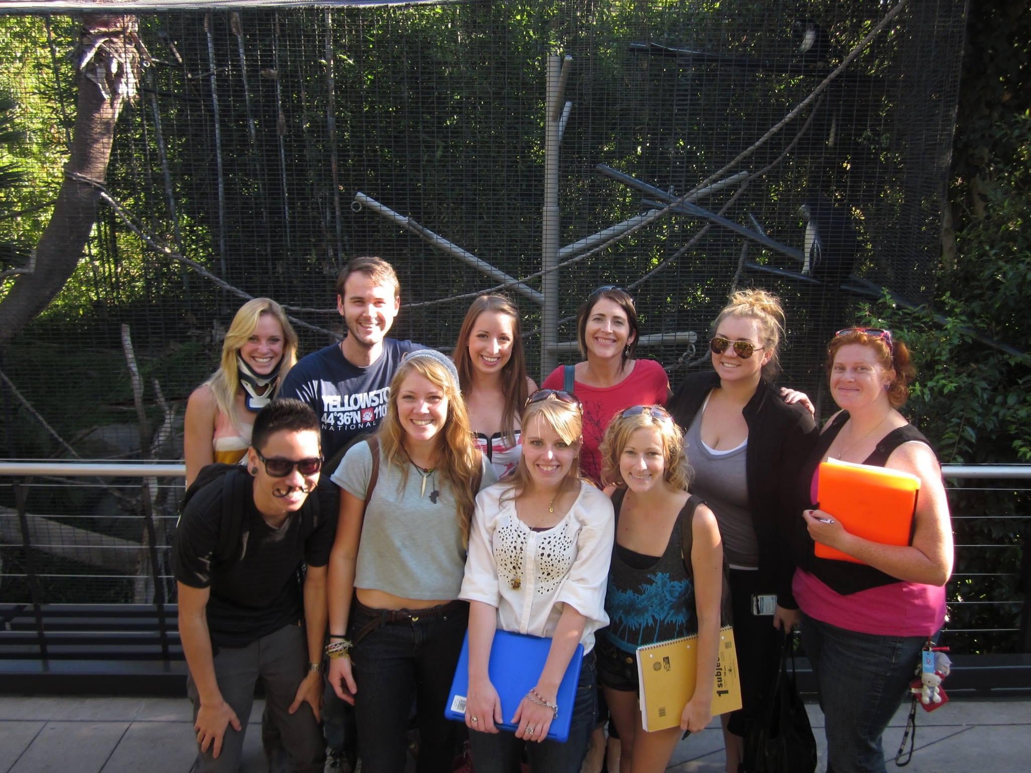 Riley with ANTH 501 class at the San Diego Zoo